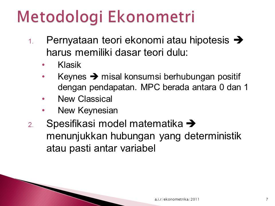 Metodologi Ekonometri