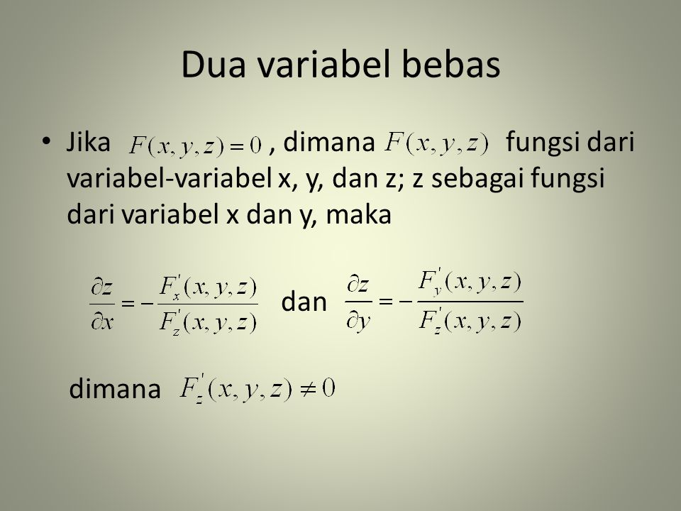 Dua variabel bebas