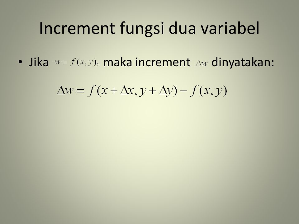 Increment fungsi dua variabel