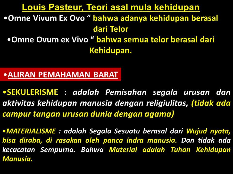 Louis Pasteur, Teori asal mula kehidupan