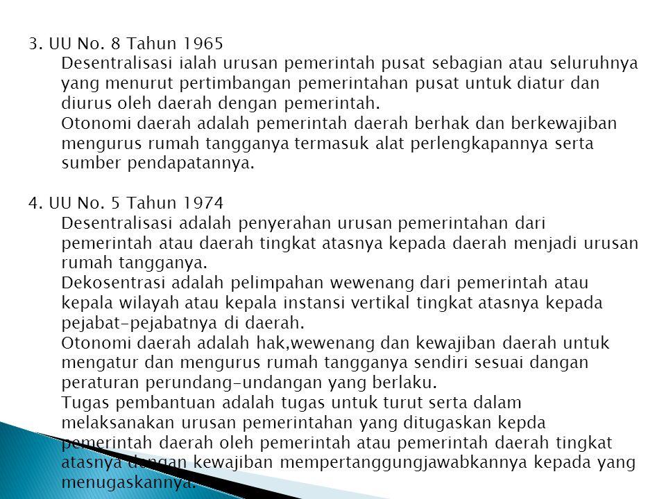 3. UU No. 8 Tahun 1965