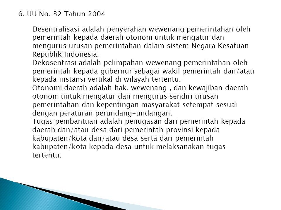 6. UU No. 32 Tahun 2004