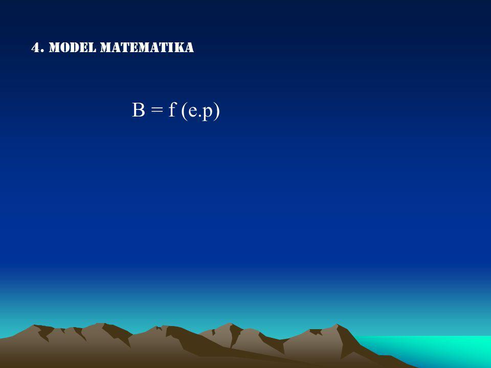 4. Model matematika B = f (e.p)