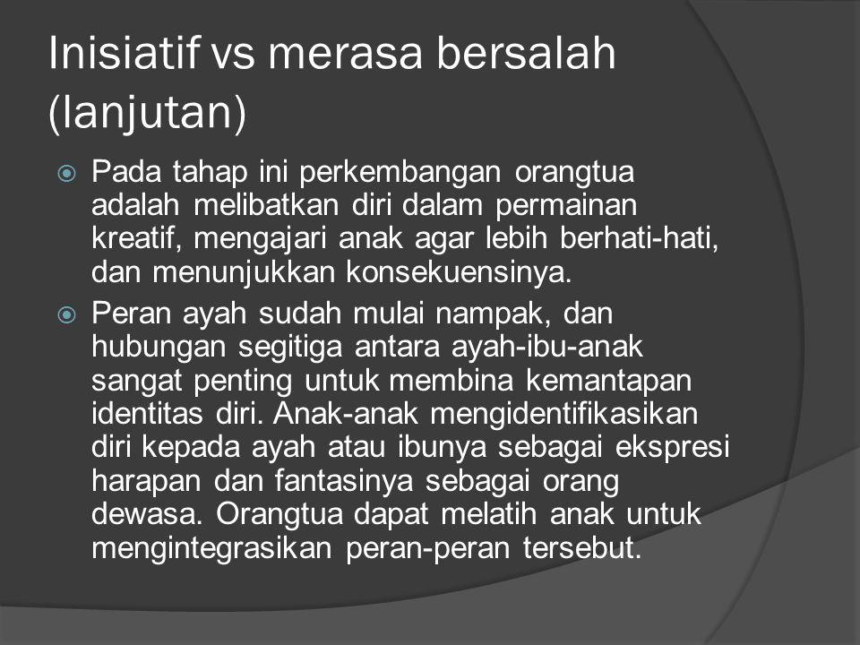 Inisiatif vs merasa bersalah (lanjutan)