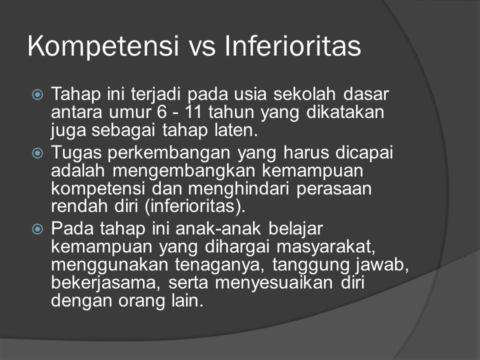Kompetensi vs Inferioritas