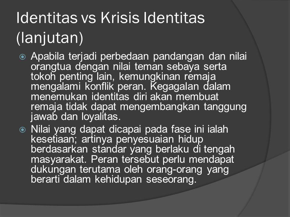 Identitas vs Krisis Identitas (lanjutan)