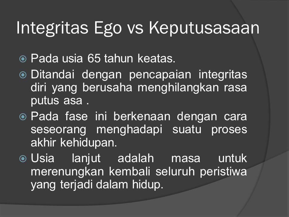 Integritas Ego vs Keputusasaan