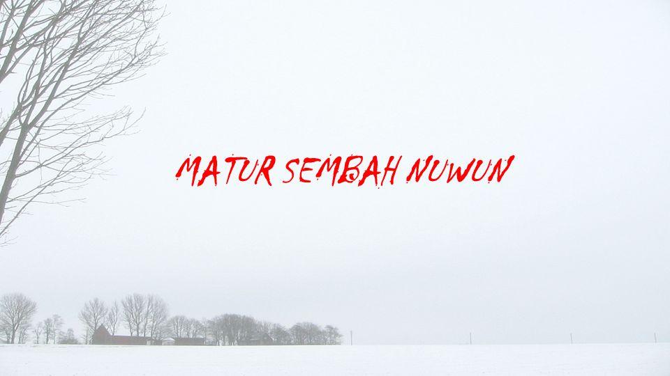 MATUR SEMBAH NUWUN