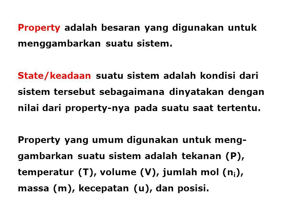 Property adalah besaran yang digunakan untuk menggambarkan suatu sistem.