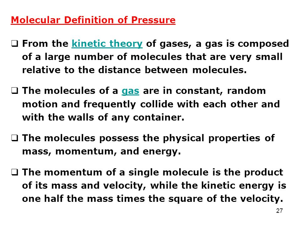 Molecular Definition of Pressure