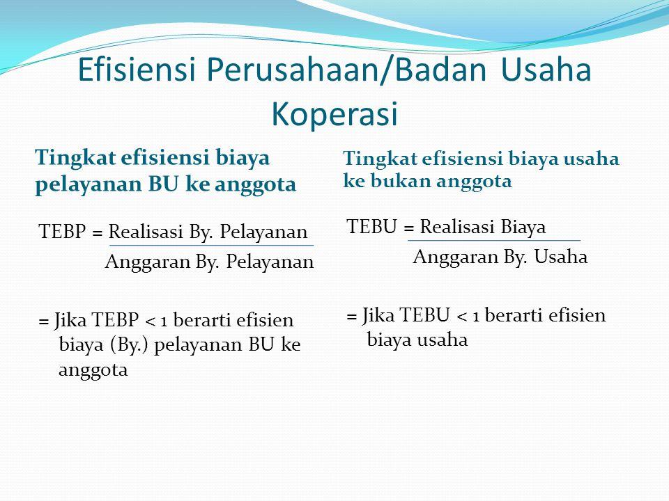 Efisiensi Perusahaan/Badan Usaha Koperasi