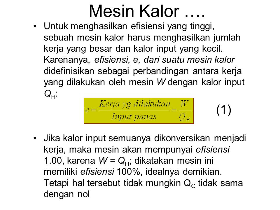 Mesin Kalor ….