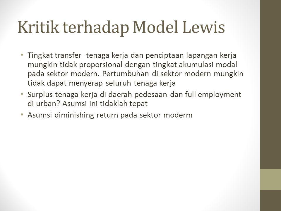 Kritik terhadap Model Lewis