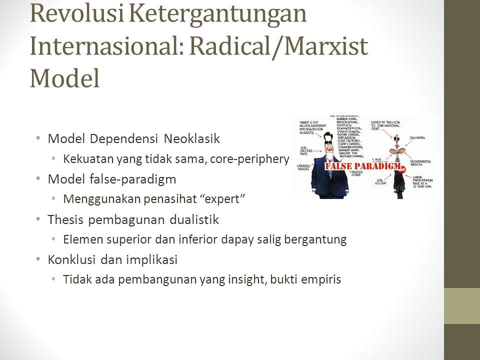 Revolusi Ketergantungan Internasional: Radical/Marxist Model