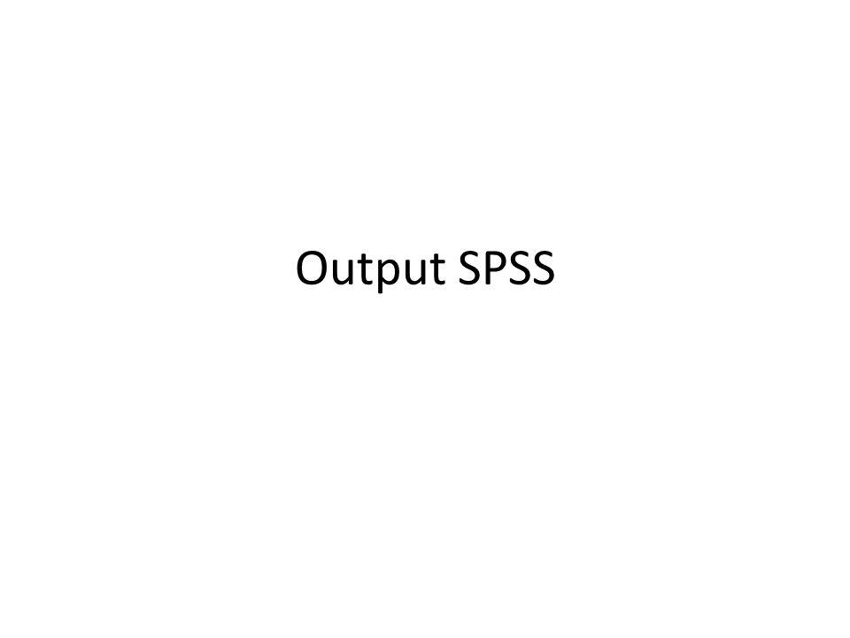 Output SPSS