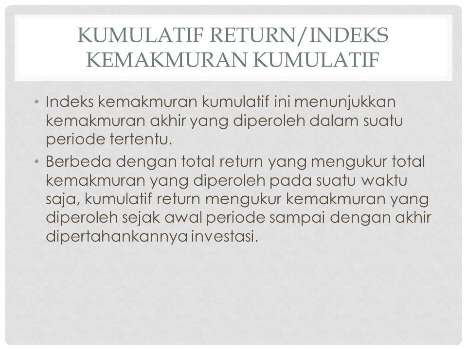 Kumulatif return/Indeks kemakmuran kumulatif