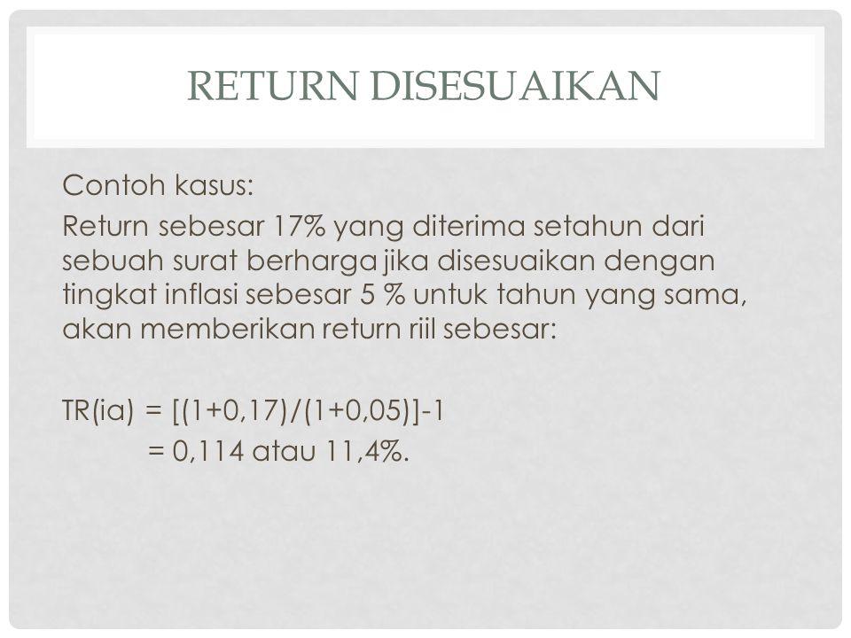 Return disesuaikan