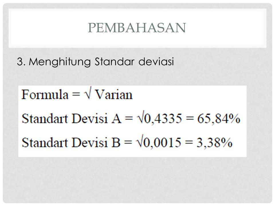pembahasan 3. Menghitung Standar deviasi