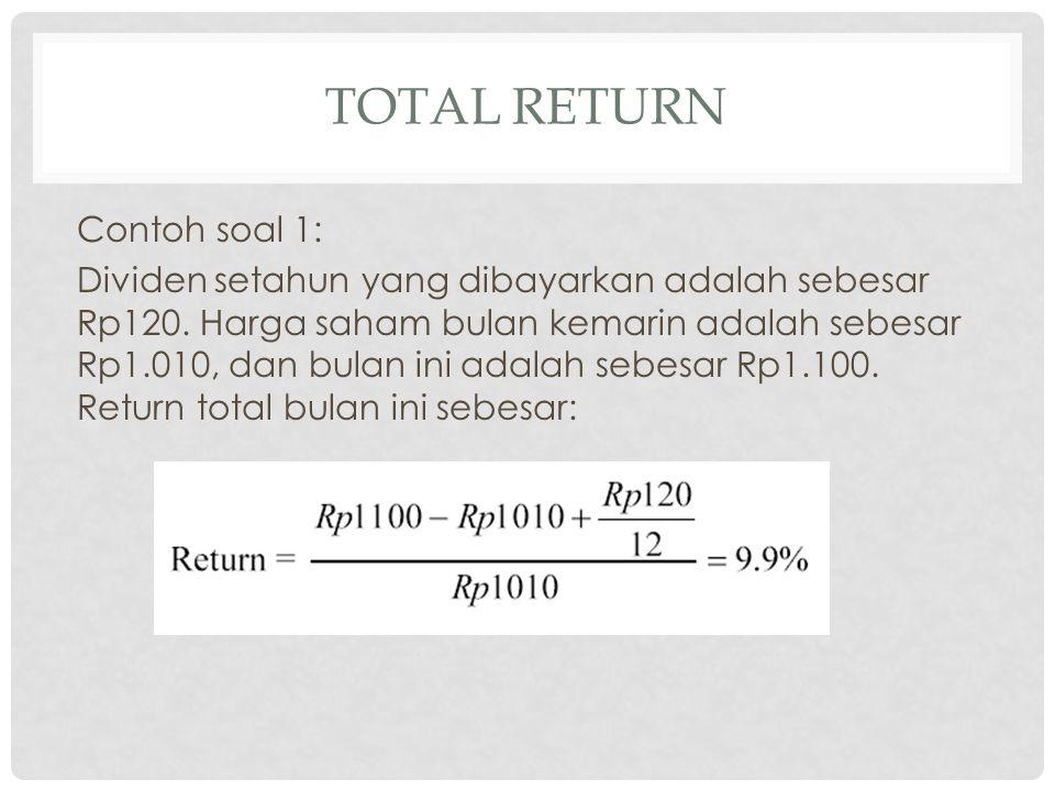 total Return Contoh soal 1: