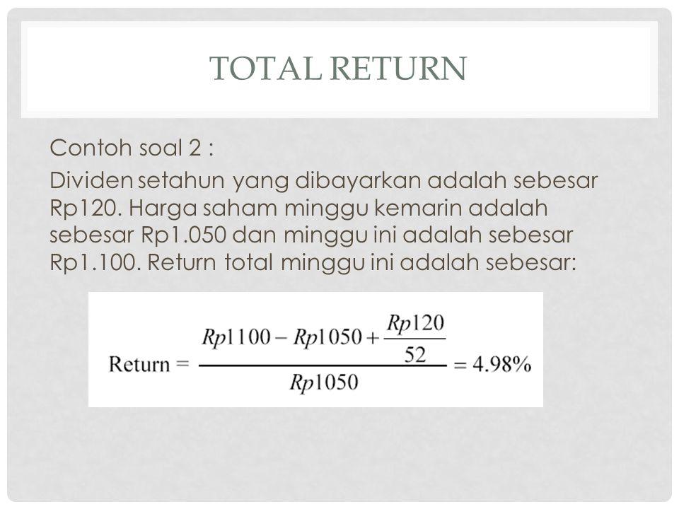 total Return Contoh soal 2 :