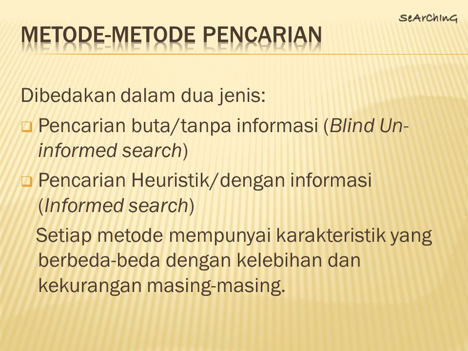 Metode-metode pencarian