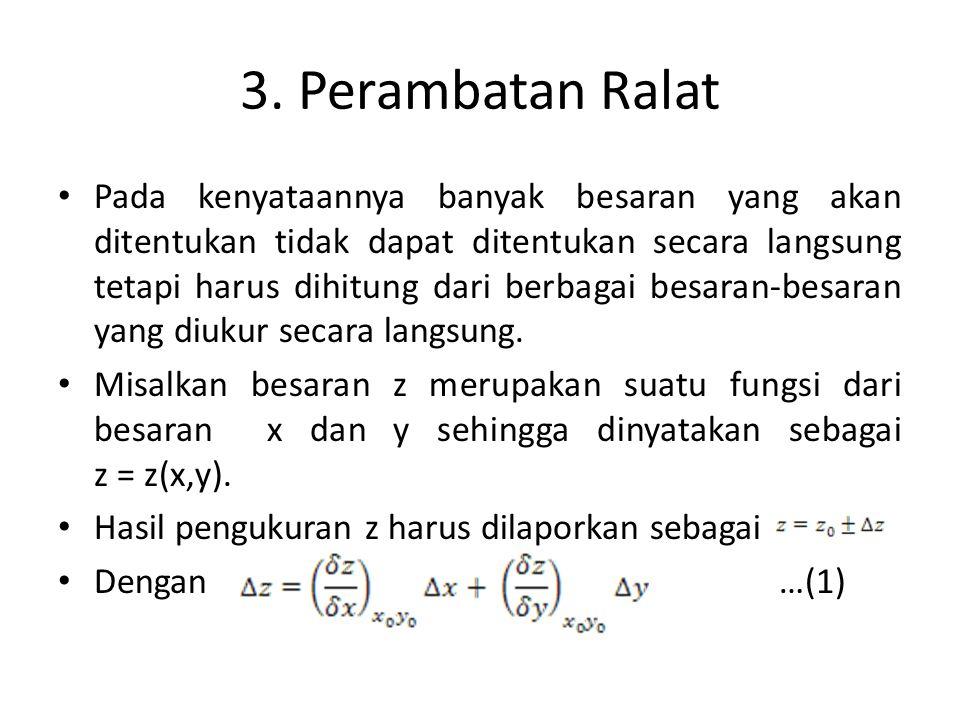 3. Perambatan Ralat