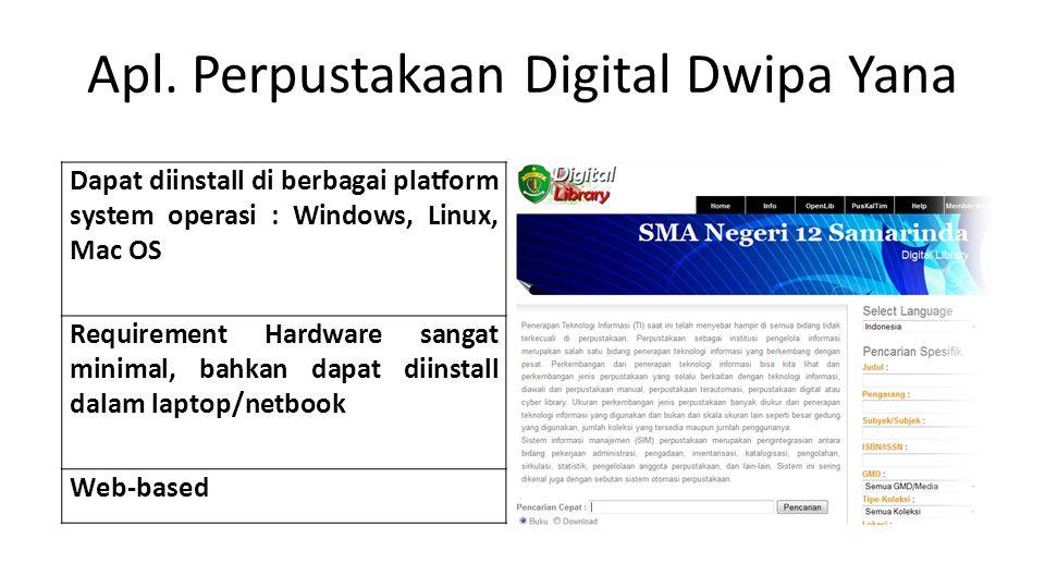Apl. Perpustakaan Digital Dwipa Yana