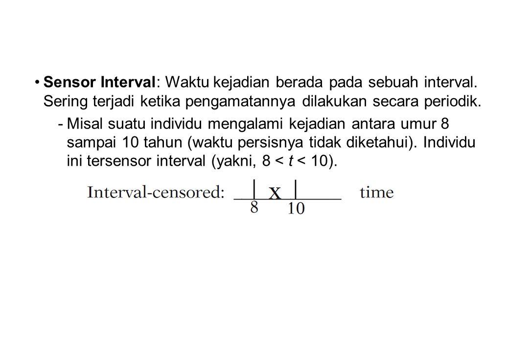 Sensor Interval: Waktu kejadian berada pada sebuah interval