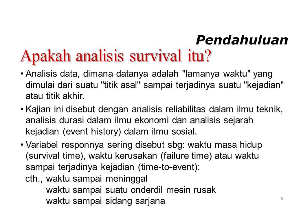 Apakah analisis survival itu