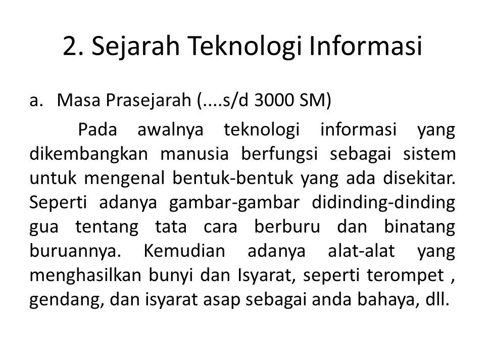 2. Sejarah Teknologi Informasi