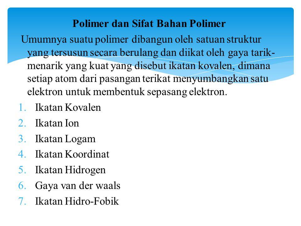 Polimer dan Sifat Bahan Polimer