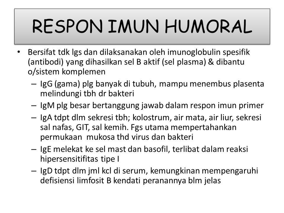 RESPON IMUN HUMORAL