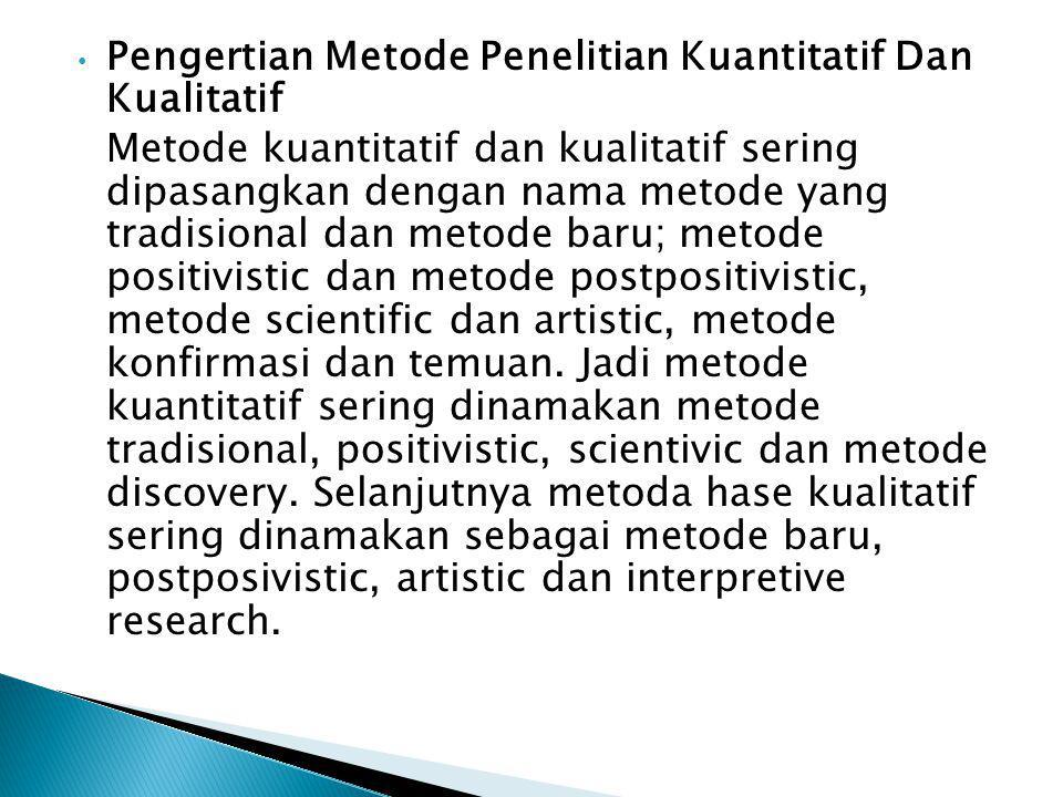 Pengertian Metode Penelitian Kuantitatif Dan Kualitatif