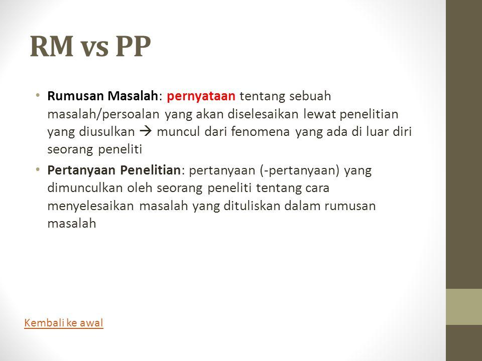 RM vs PP