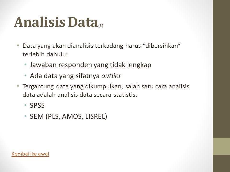 Analisis Data(3) Jawaban responden yang tidak lengkap