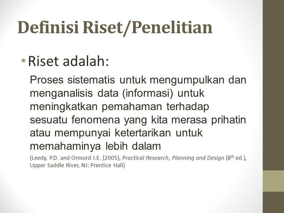 Definisi Riset/Penelitian