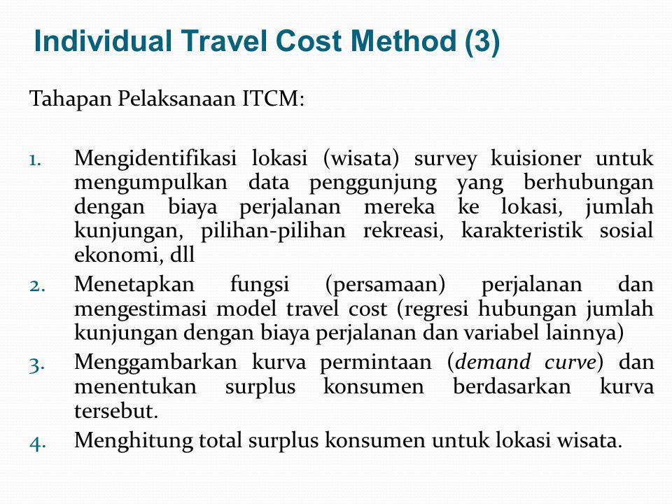 Individual Travel Cost Method (3)