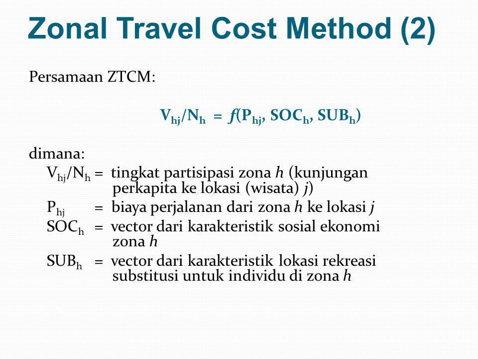Zonal Travel Cost Method (2)