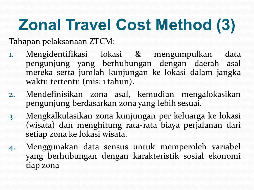 Zonal Travel Cost Method (3)