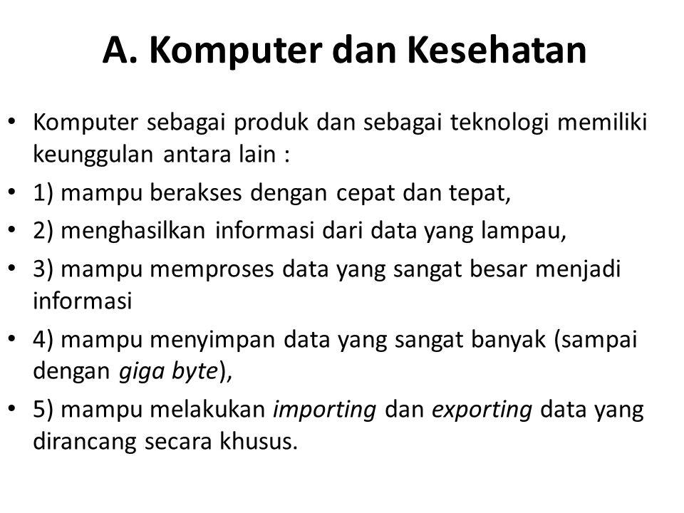 A. Komputer dan Kesehatan