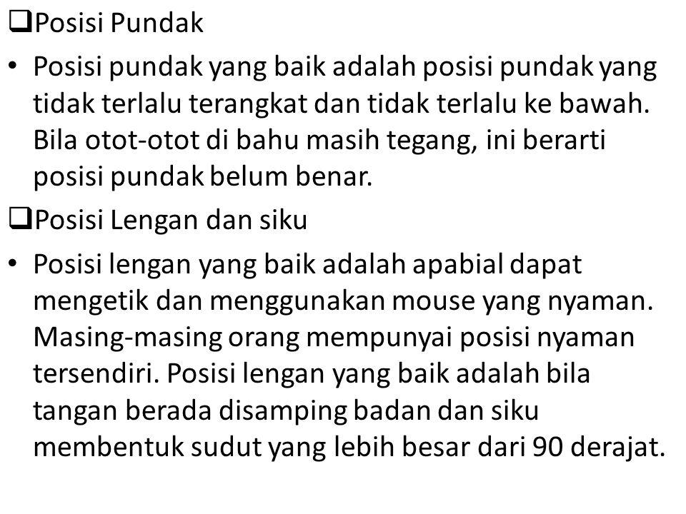 Posisi Pundak