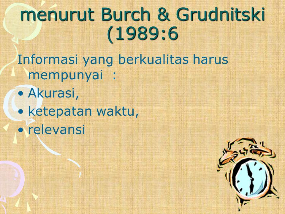 menurut Burch & Grudnitski (1989:6