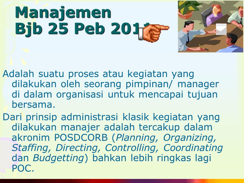 Manajemen Bjb 25 Peb 2011