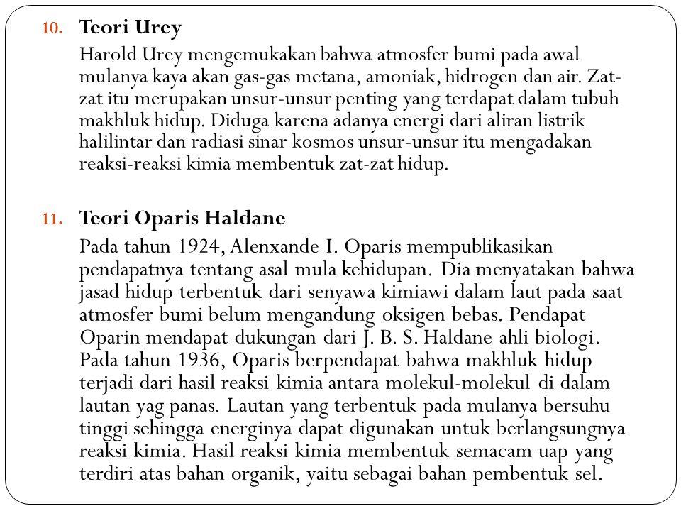Teori Urey