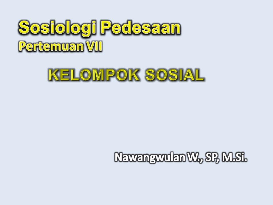 Sosiologi Pedesaan Pertemuan VII