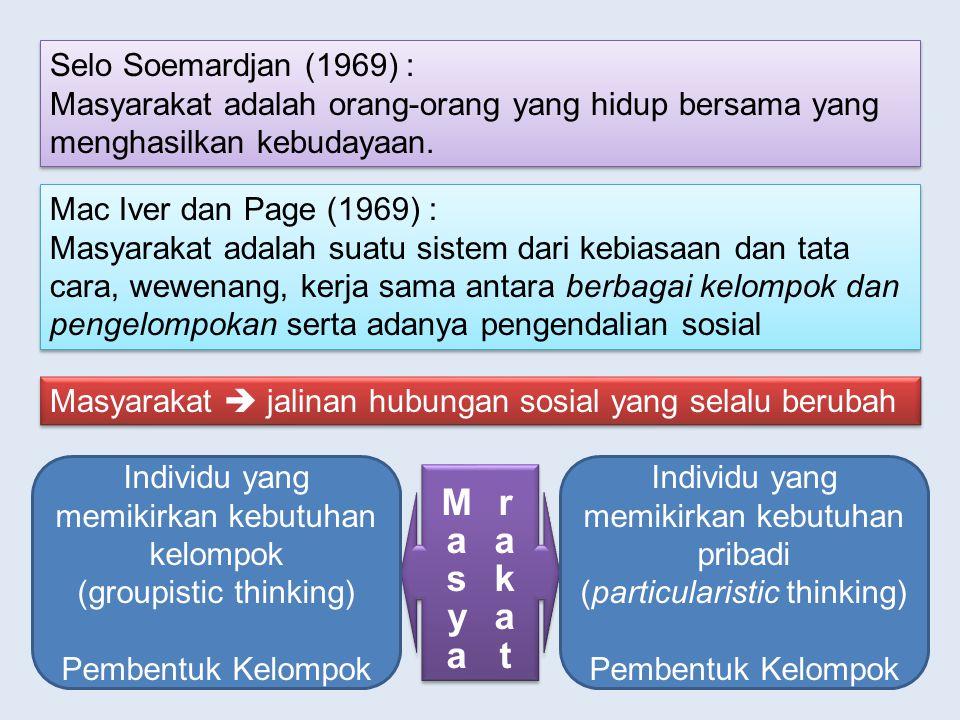 Masyarakat Selo Soemardjan (1969) :