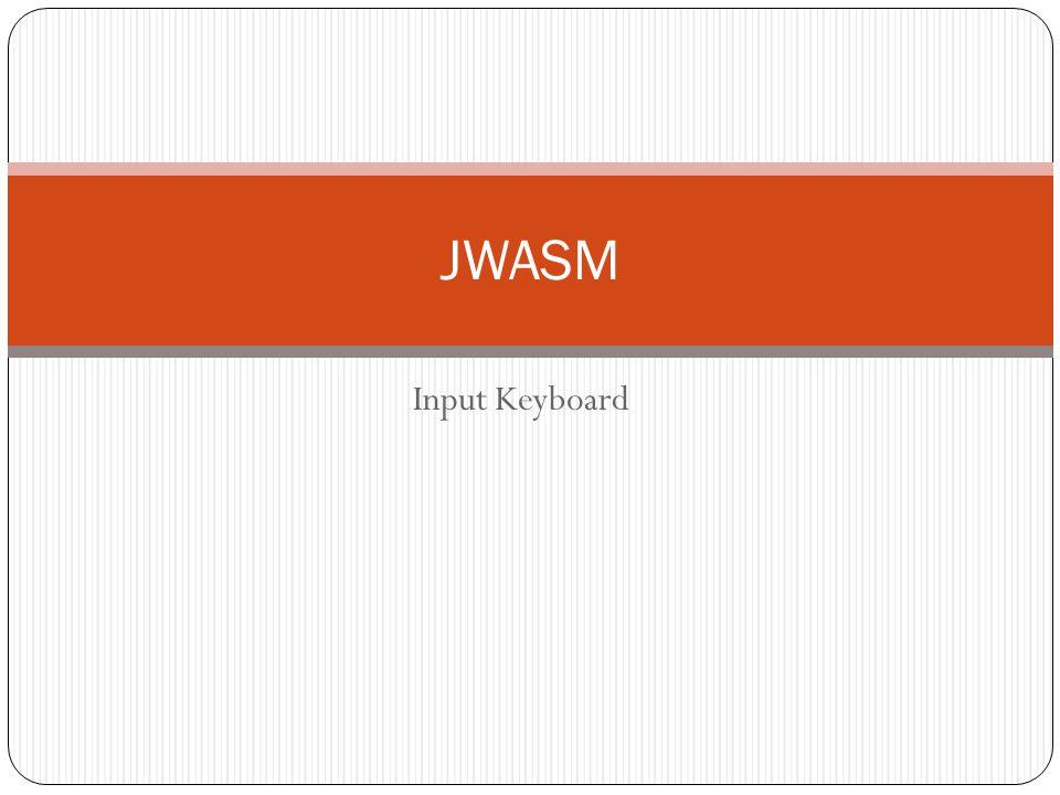 JWASM Input Keyboard
