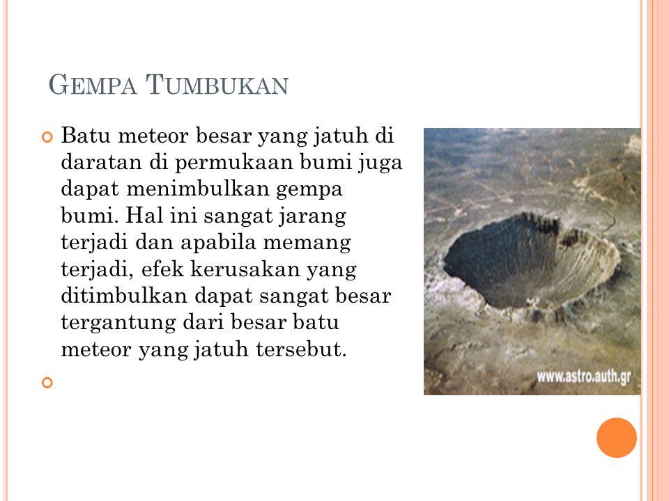 Gempa Tumbukan