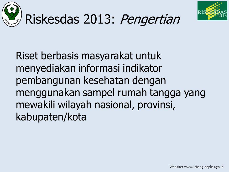 Riskesdas 2013: Pengertian