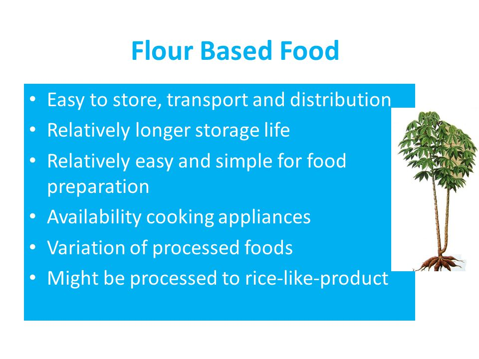 Flour Based Food Easy to store, transport and distribution
